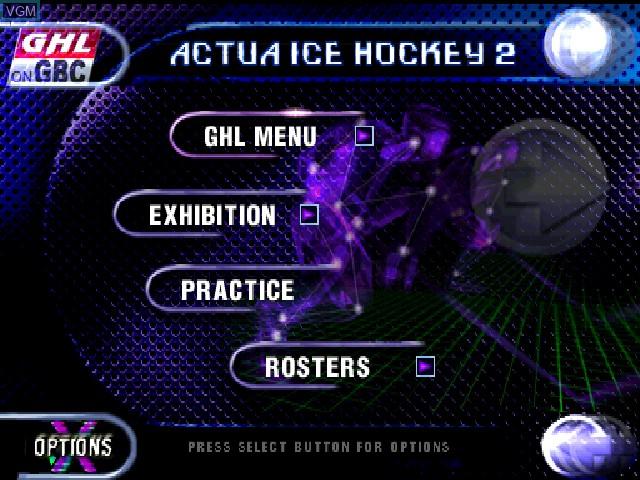 Image du menu du jeu Actua Ice Hockey 2 sur Sony Playstation