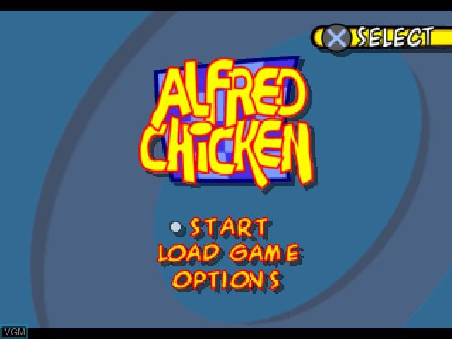 Image du menu du jeu Alfred Chicken sur Sony Playstation