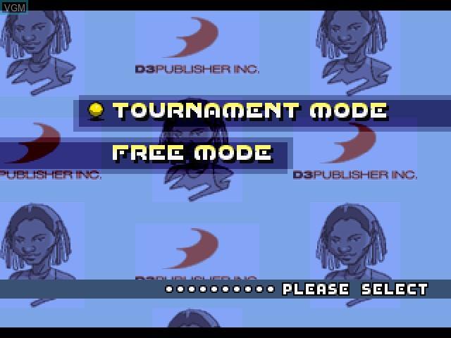 Image du menu du jeu All Star Tennis sur Sony Playstation