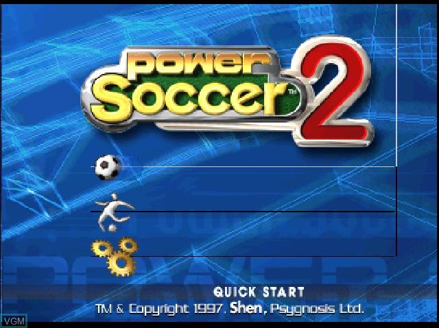 Image du menu du jeu Adidas Power Soccer 2 sur Sony Playstation