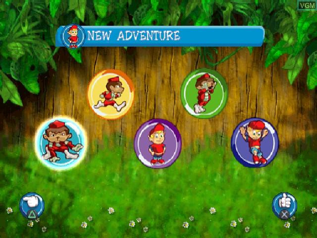 Image du menu du jeu Adiboo & Paziral's Secret sur Sony Playstation
