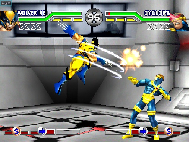 Image in-game du jeu X-Men - Mutant Academy sur Sony Playstation
