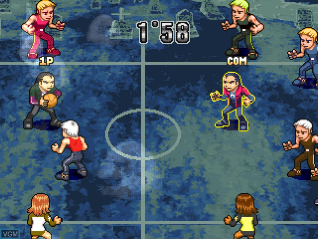 Image in-game du jeu All-Star Slammin' D-Ball sur Sony Playstation