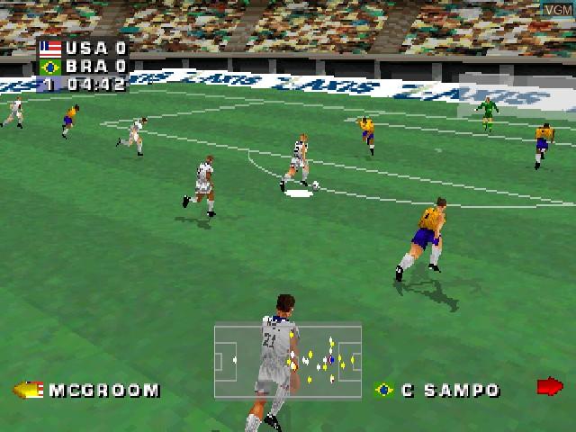 Image in-game du jeu Alexi Lalas International Soccer sur Sony Playstation