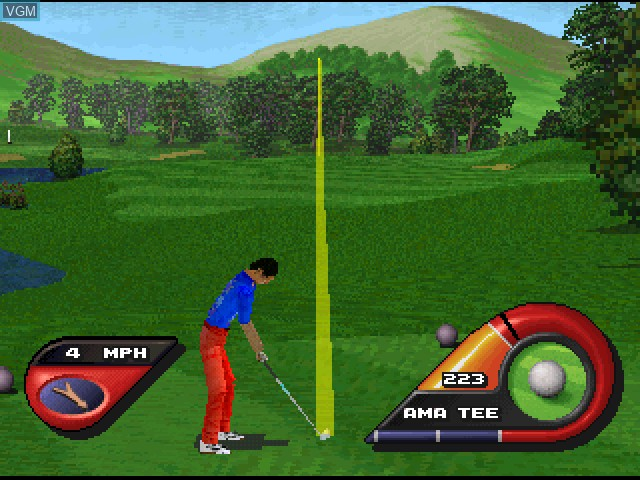 Image in-game du jeu FOX Sports Golf '99 sur Sony Playstation
