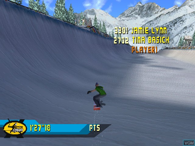 Image in-game du jeu X Games Pro Boarder sur Sony Playstation
