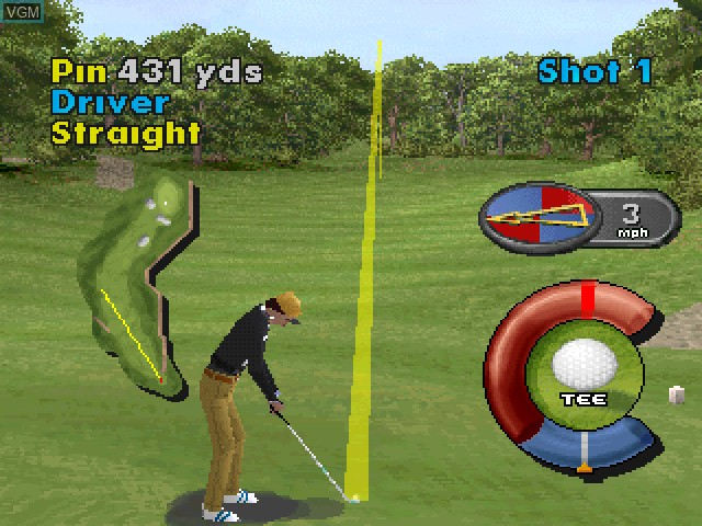Image in-game du jeu Actua Golf sur Sony Playstation