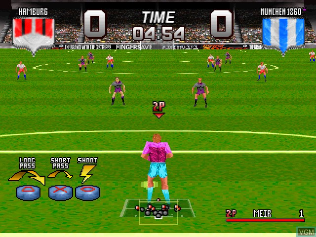 Image in-game du jeu Adidas Power Soccer sur Sony Playstation