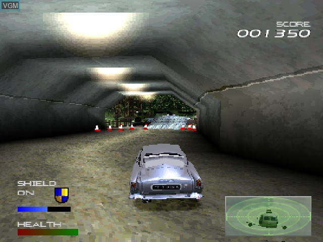 Image in-game du jeu 007 Racing sur Sony Playstation