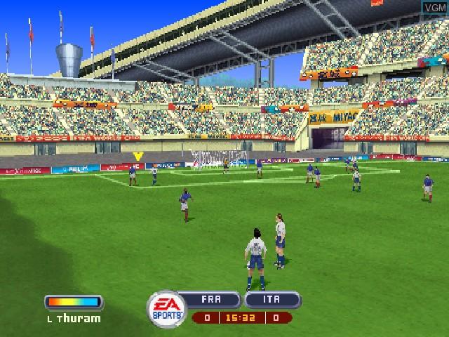 Image in-game du jeu 2002 FIFA World Cup Korea Japan sur Sony Playstation