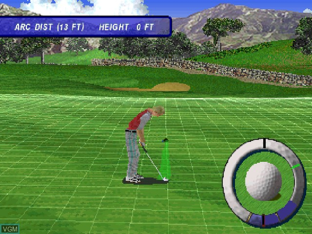 Image in-game du jeu Actua Golf 3 sur Sony Playstation