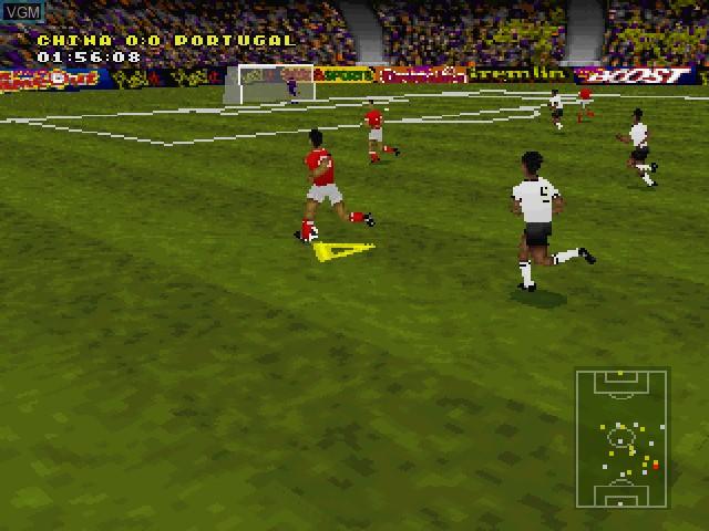 Image in-game du jeu Actua Soccer sur Sony Playstation