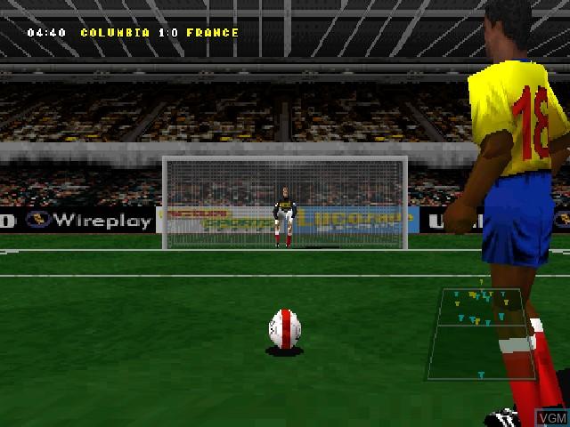 Image in-game du jeu Actua Soccer 2 sur Sony Playstation