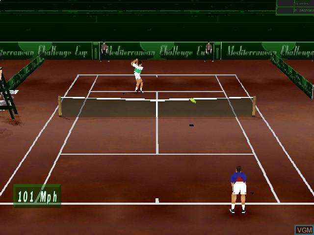 Image in-game du jeu Actua Tennis sur Sony Playstation