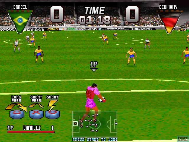 Image in-game du jeu Adidas Power Soccer International '97 sur Sony Playstation