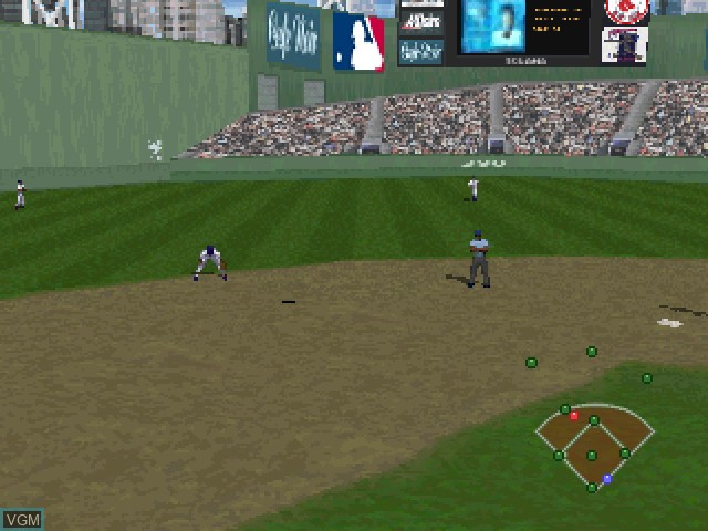 Image in-game du jeu All-Star Baseball 97 featuring Frank Thomas sur Sony Playstation