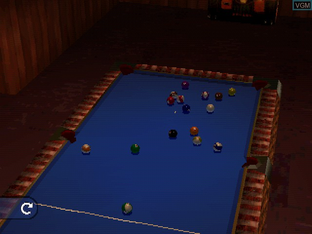 Image in-game du jeu Ultimate 8 Ball sur Sony Playstation