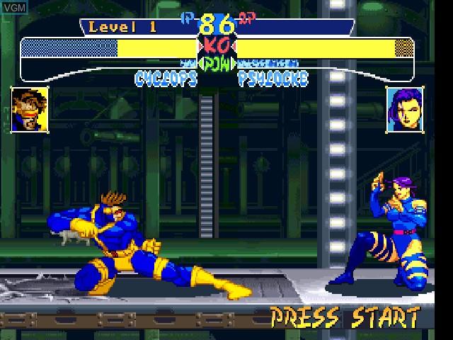 Image in-game du jeu X-Men - Children of the Atom sur Sony Playstation