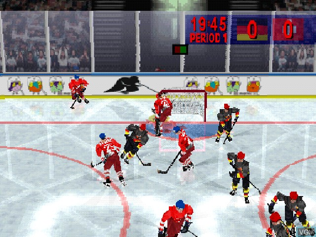 Image in-game du jeu Actua Ice Hockey sur Sony Playstation