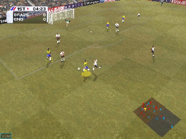 Image in-game du jeu Actua Soccer 3 sur Sony Playstation