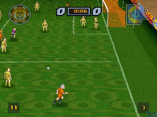 Image in-game du jeu All Star Soccer sur Sony Playstation
