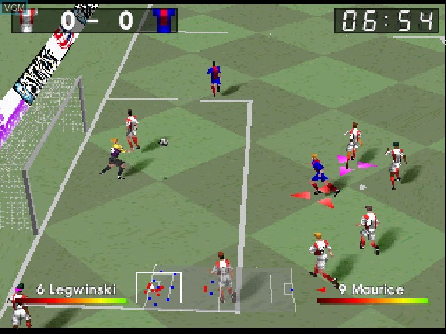 Image in-game du jeu Adidas Power Soccer 2 sur Sony Playstation