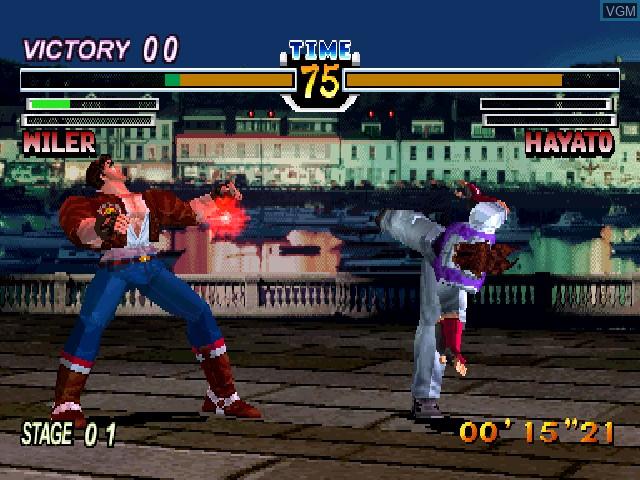 Image in-game du jeu Virtual Hiryu no Ken sur Sony Playstation