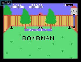 Image de l'ecran titre du jeu Bombman sur Tomy Pyuuta / Tutor