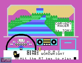 Image de l'ecran titre du jeu Car-azy-racer sur Tomy Pyuuta / Tutor