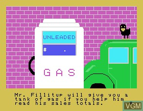 Image du menu du jeu Car-azy-racer sur Tomy Pyuuta / Tutor