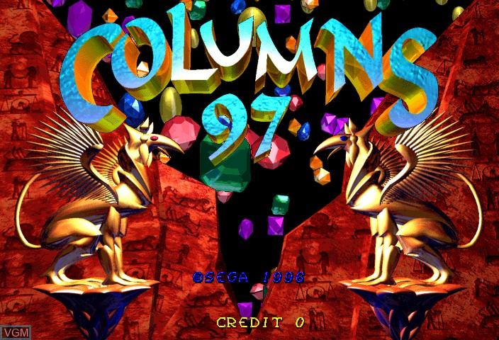 Image de l'ecran titre du jeu Columns 97 sur ST-V