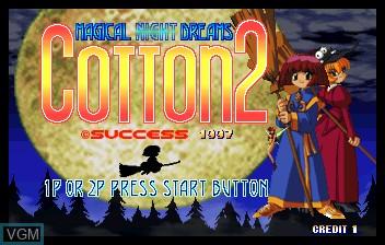 Image de l'ecran titre du jeu Cotton 2 sur ST-V