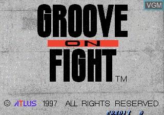 Image de l'ecran titre du jeu Power Instinct 3 - Groove On Fight sur ST-V