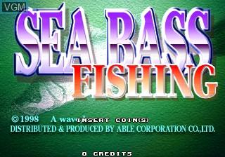Image de l'ecran titre du jeu Sea Bass Fishing sur ST-V