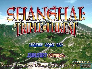 Image de l'ecran titre du jeu Shanghai - The Great Wall / Shanghai Triple Threat sur ST-V