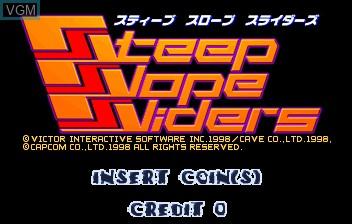 Image de l'ecran titre du jeu Steep Slope Sliders sur ST-V