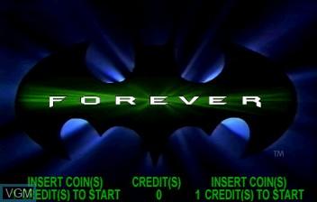 Image de l'ecran titre du jeu Batman Forever sur ST-V