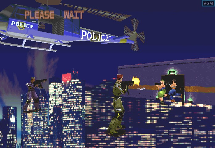 Image du menu du jeu Dynamite Deka sur ST-V