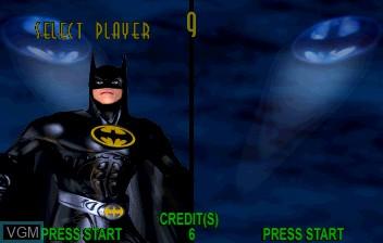 Image du menu du jeu Batman Forever sur ST-V