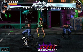 Image in-game du jeu Batman Forever sur ST-V