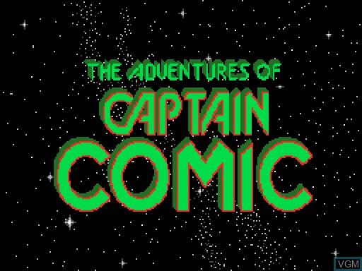 Image de l'ecran titre du jeu Captain Comic sur MGT Sam Coupé