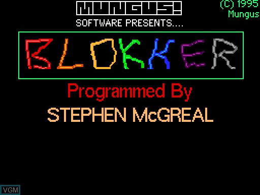 Image de l'ecran titre du jeu Blokker sur MGT Sam Coupé