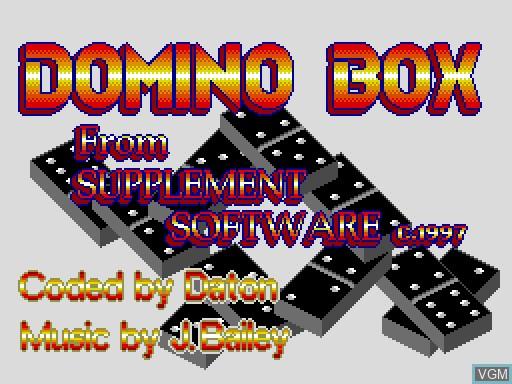 Image de l'ecran titre du jeu Domino Box sur MGT Sam Coupé