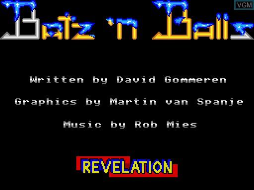 Image de l'ecran titre du jeu Batz'n'Balls sur MGT Sam Coupé