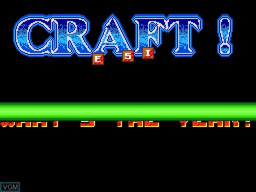 Image de l'ecran titre du jeu Craft sur MGT Sam Coupé