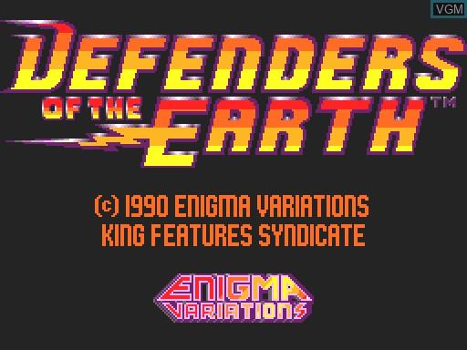 Image de l'ecran titre du jeu Defenders of the Earth sur MGT Sam Coupé