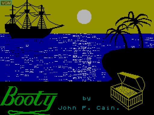 Image de l'ecran titre du jeu Booty sur MGT Sam Coupé