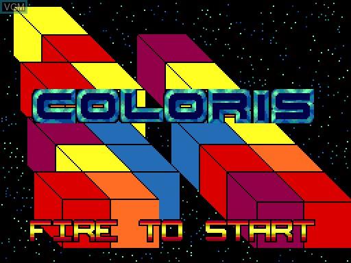 Image de l'ecran titre du jeu Coloris sur MGT Sam Coupé