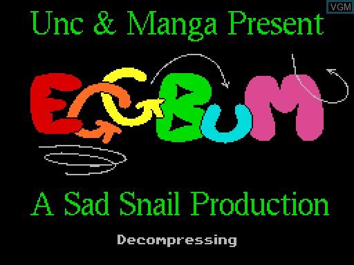 Image de l'ecran titre du jeu EGGBuM sur MGT Sam Coupé