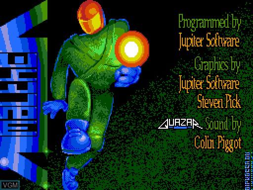 Image de l'ecran titre du jeu Amalthea sur MGT Sam Coupé